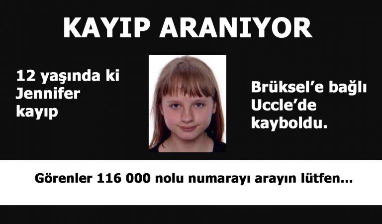12 yaşında ki Jennifer Çarşamba günü okul çıkışında kayboldu.